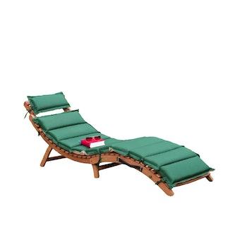"""Gartenliege """"Ipanema"""" mit Wendeauflage, grün/beige"""
