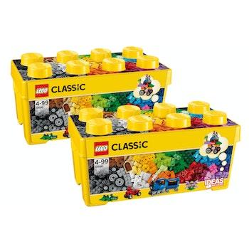 CLASSIC Bausteinebox 2er Set, 968 Teile