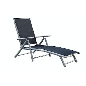 Deckchair/ Sonnenliege, schwarz