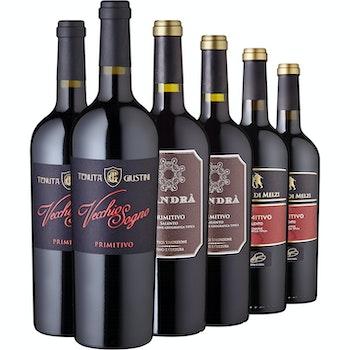 Rotwein-Set Primitivo, 6 Flaschen