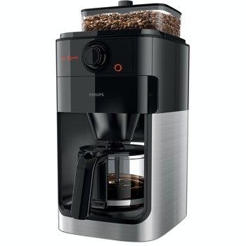 """Kaffeemaschine """"Grind and Brew HD7767/00"""", edelstahl/schwarz"""