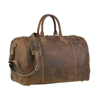 Reisetasche Leder, braun
