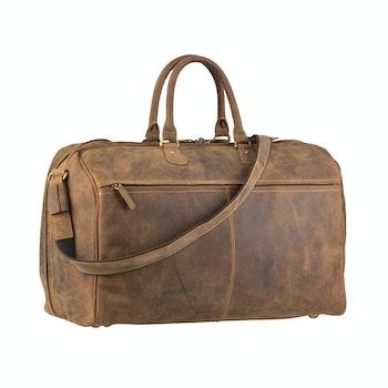 Reisetasche Leder, braun (2 von 4)