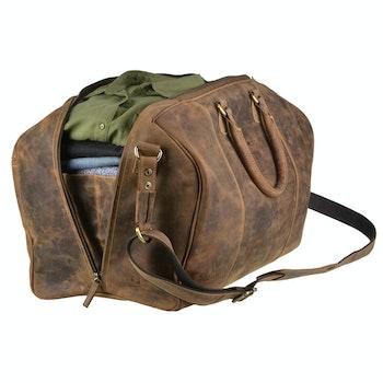 Reisetasche Leder, braun (3 von 4)