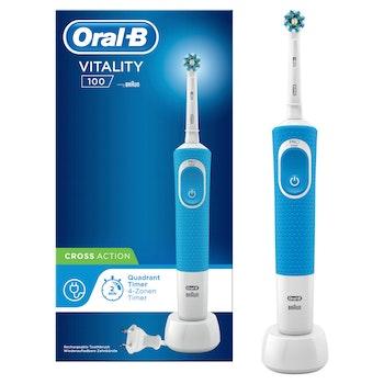 Oral-B Elektrische Zahnbürste Vitality 100 Cross Action, blau
