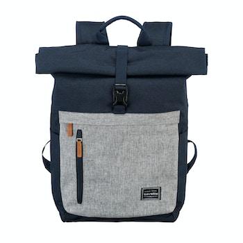 Rucksack Basic Roll Up, marine/grau