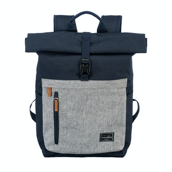 Rucksack Basic Roll Up, marine/grau