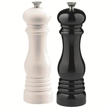 Salz- und Pfeffermühlenset  21 cm, 2-tlg., schwarz/weiß