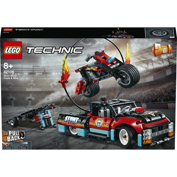 TECHNIC Stunt-Show mit Truck und Motorrad