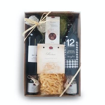 Gourmet Präsentkarton Italien Pasta und Wein
