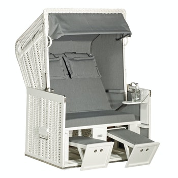 Strandkorb Konsul 718, weiß/grau