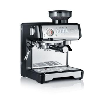 Siebträger Espressomaschine Milegra, silber/schwarz