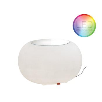 Leuchtender Beistelltisch & Sitzgelegenheit Bubble, Ø 40 cm