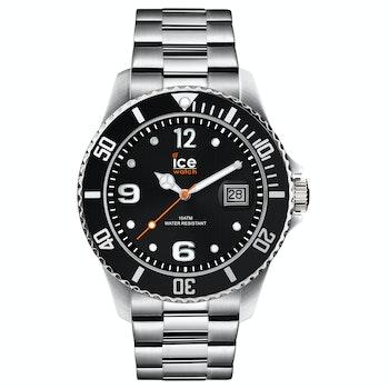 Herren-Armbanduhr Ice Steel, black silver