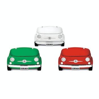 Kühlvitrine-Minibar im FIAT 500 Retro-Design