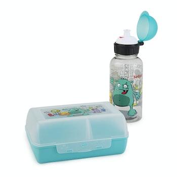 KIDS SET TRITAN Geschenkset  Trinkflasche und VARIABOLO Clipbox Monster