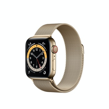 Watch Series 6 Edelstahl Milanaise GPS+Cellular, M06W3FD/A, 40mm, Gold