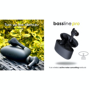 Bluetooth Kopfhörer True Wireless In-Ear Bassline Pro mit ANC
