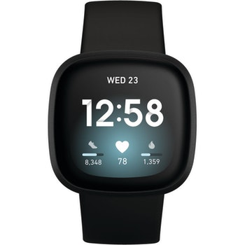 Smartwatch Versa 3, black/black Aluminium