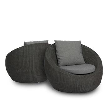 Loungesessel Set Anny, 2tlg., basaltgrau