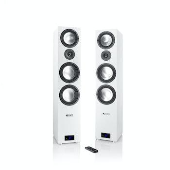 Aktiv-Wireless Standlautsprecher-Set Smart GLE 9, weiß
