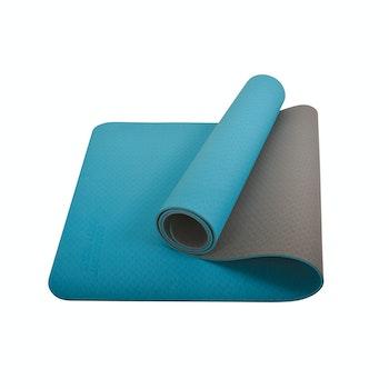 Yogamatte Bicolor petrol/grau