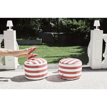 Sitzhocker  Point Outdoor Stripe Red