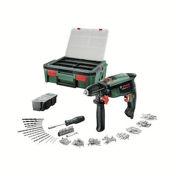 Schlagbohrmaschine UniversalImpact 700 + Systembox inkl. Zubehör 182-tlg.