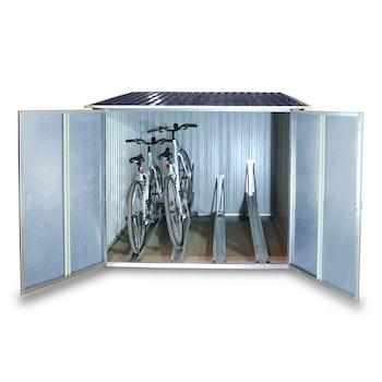 Fahrradbox  für 4 Fahrräder, anthrazit